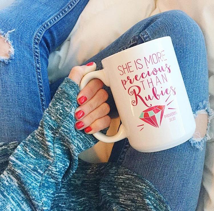 More Precious Than Rubies Coffee Mug
