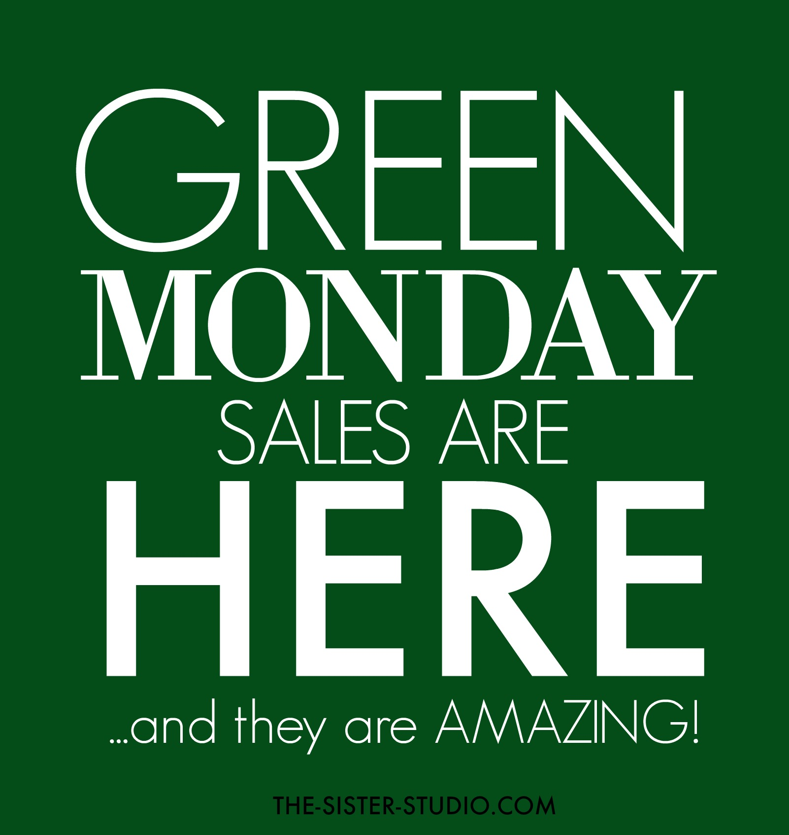 Green Monday Sales