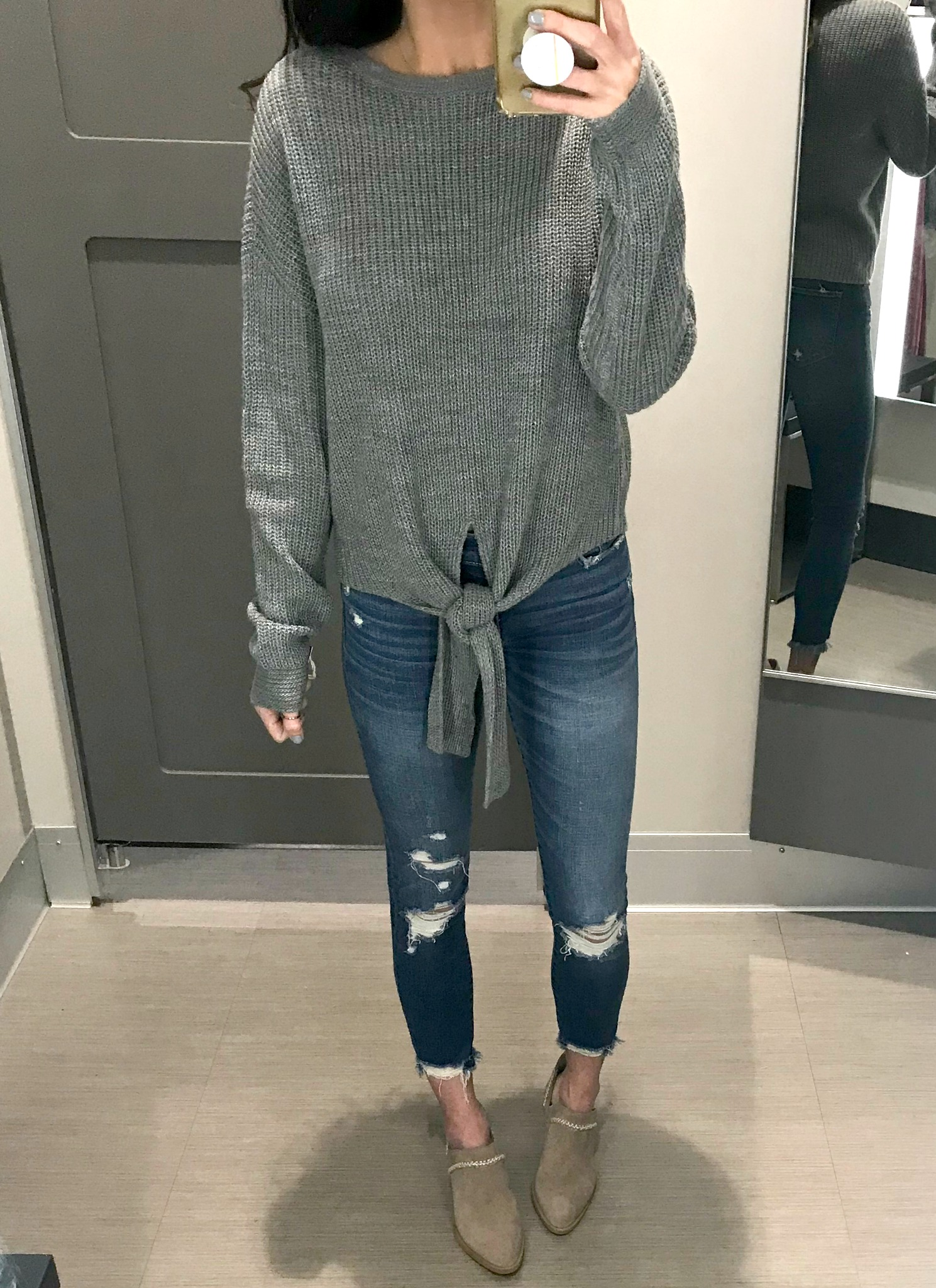 Target Sweater, Jeans and Booties