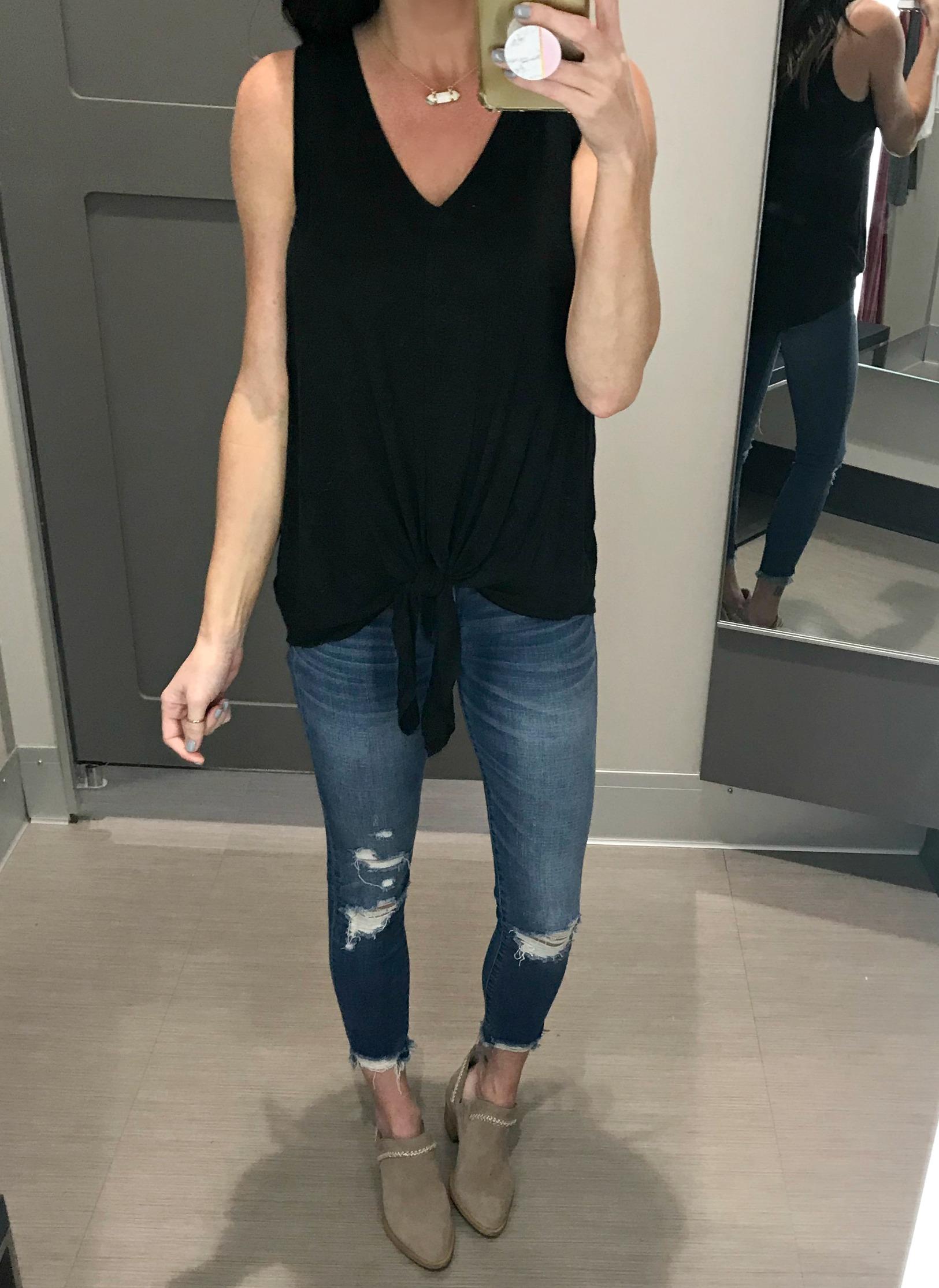 Black Tank, Jeans, Booties