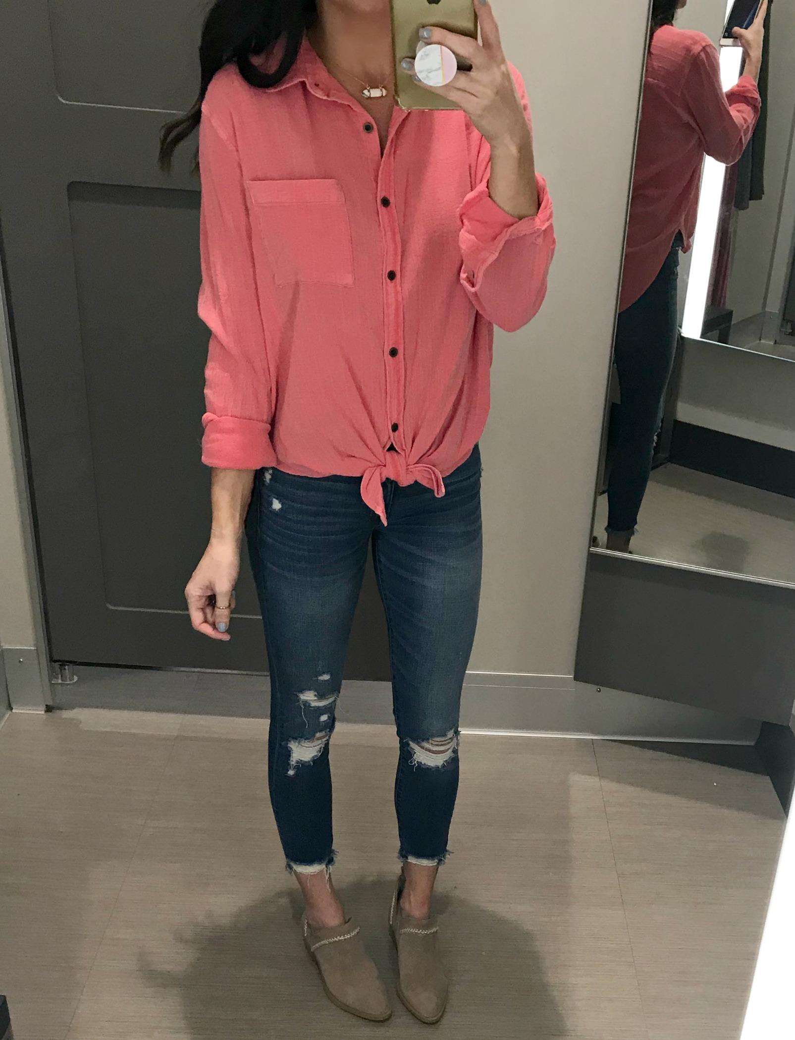 Target Top, Jeans, Booties