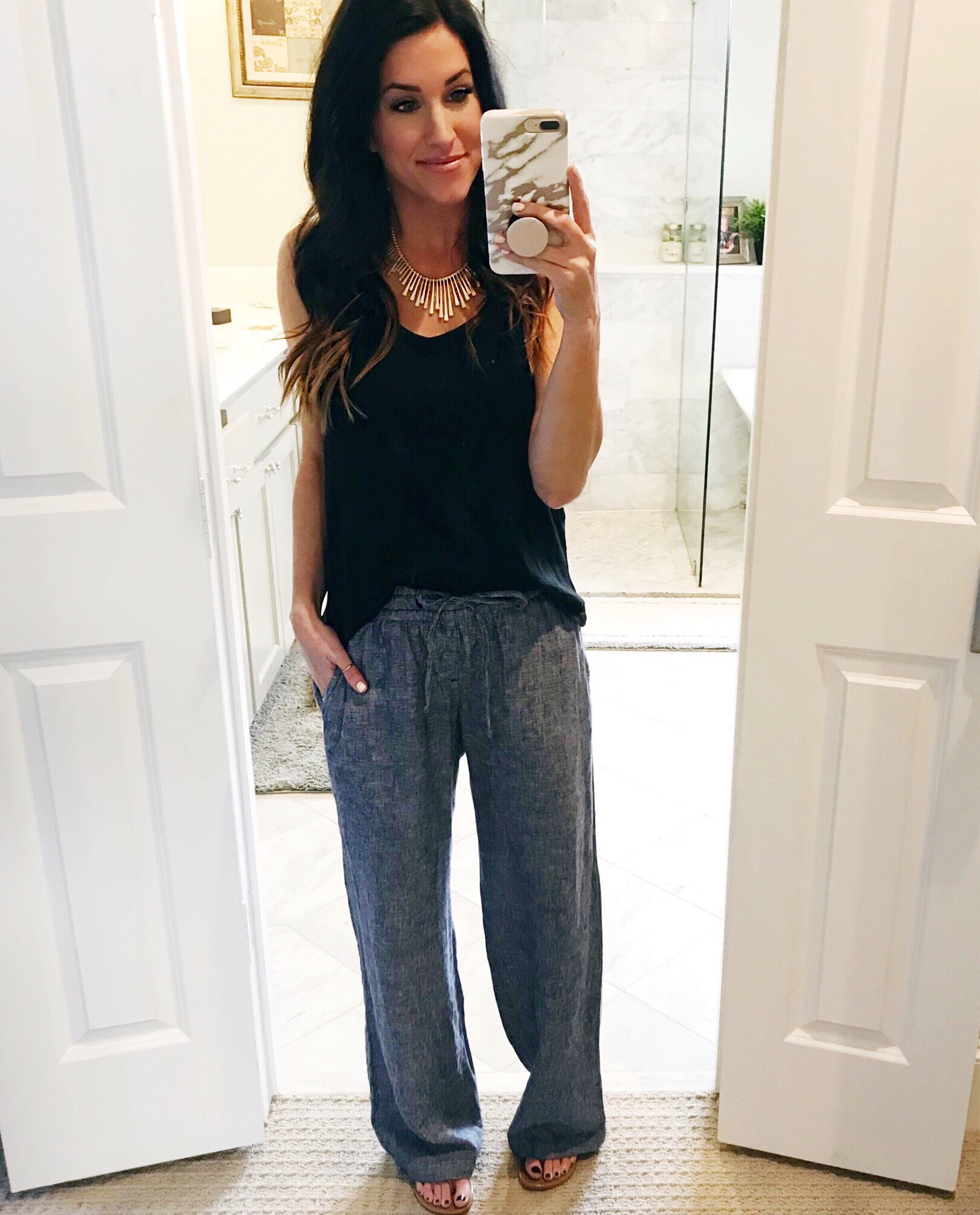 Linen Pants Spring Outfit