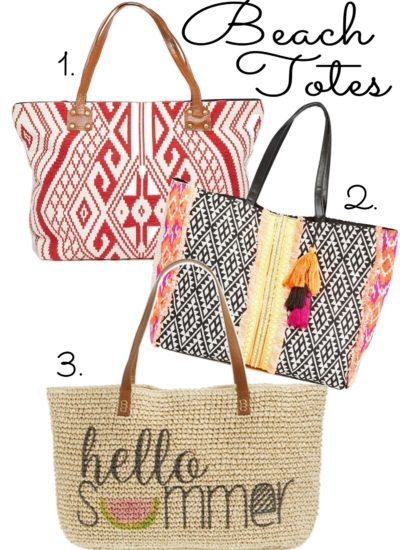 Weekend Wishlist: Beach Totes