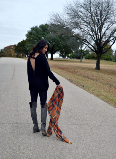 Cozy Knits + Leather Leggings