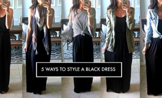 5 ways to style a black dress