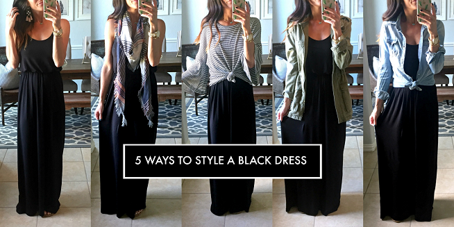 5 ways to style a black dress