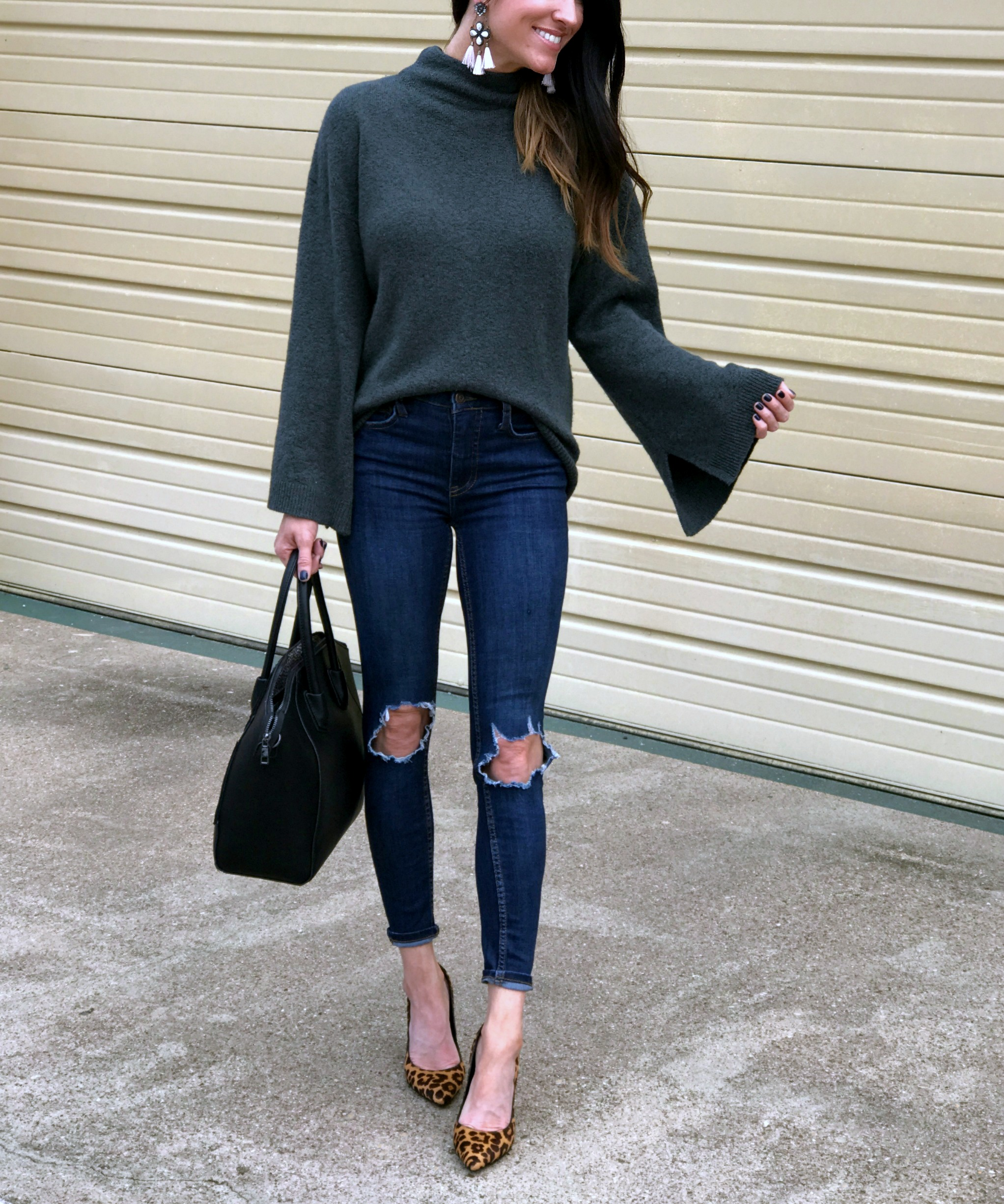 Bell Sleeves and Leopard