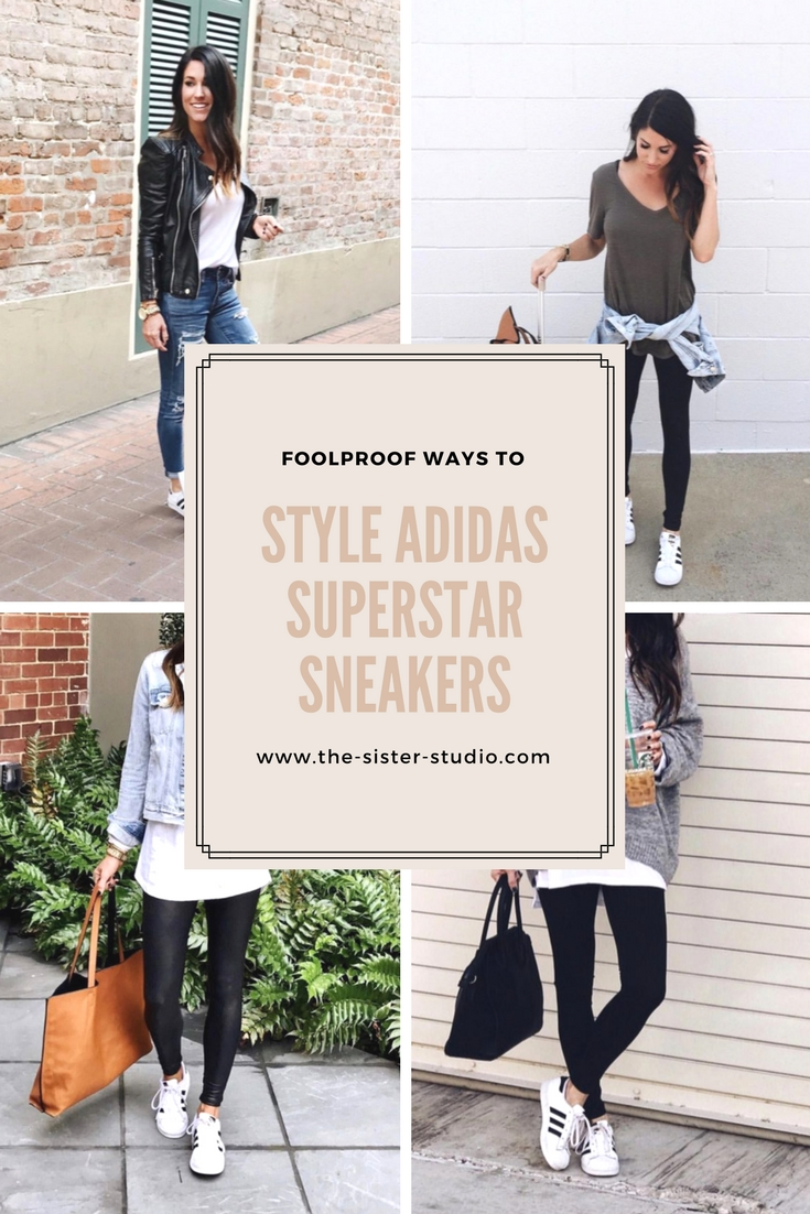 Foolproof ways to style Adidas Superstar Sneakers - www.the-sister-studio.com