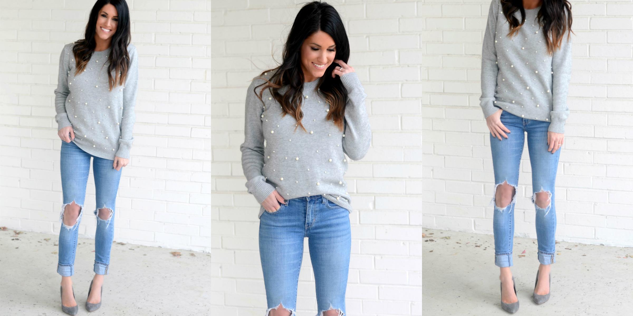 Grey Peal Sweater