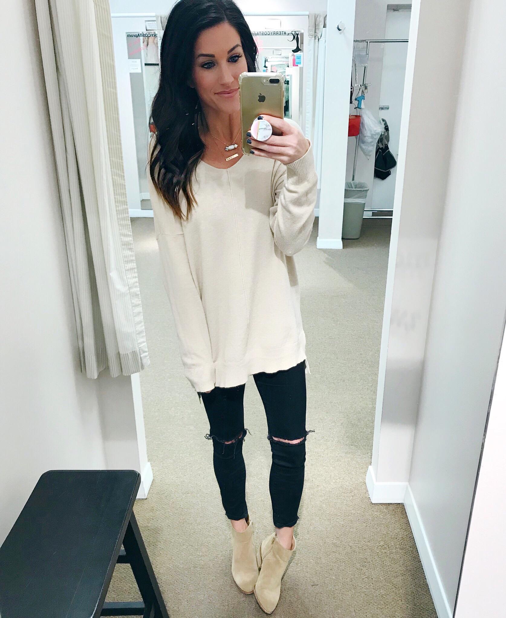 Tan Tunic Sweater