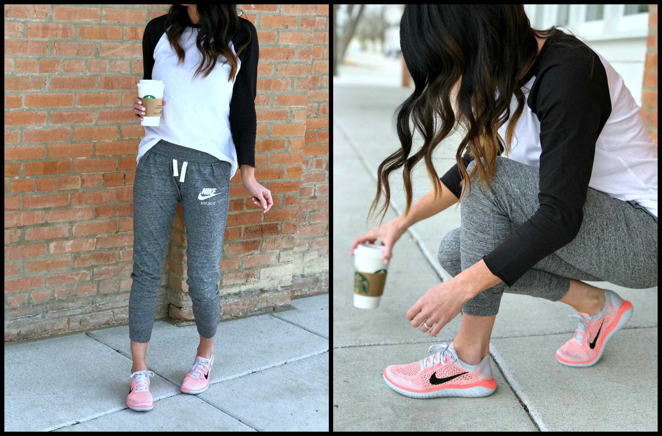 Casual Style, Nike, Joggers, Baseball Tee