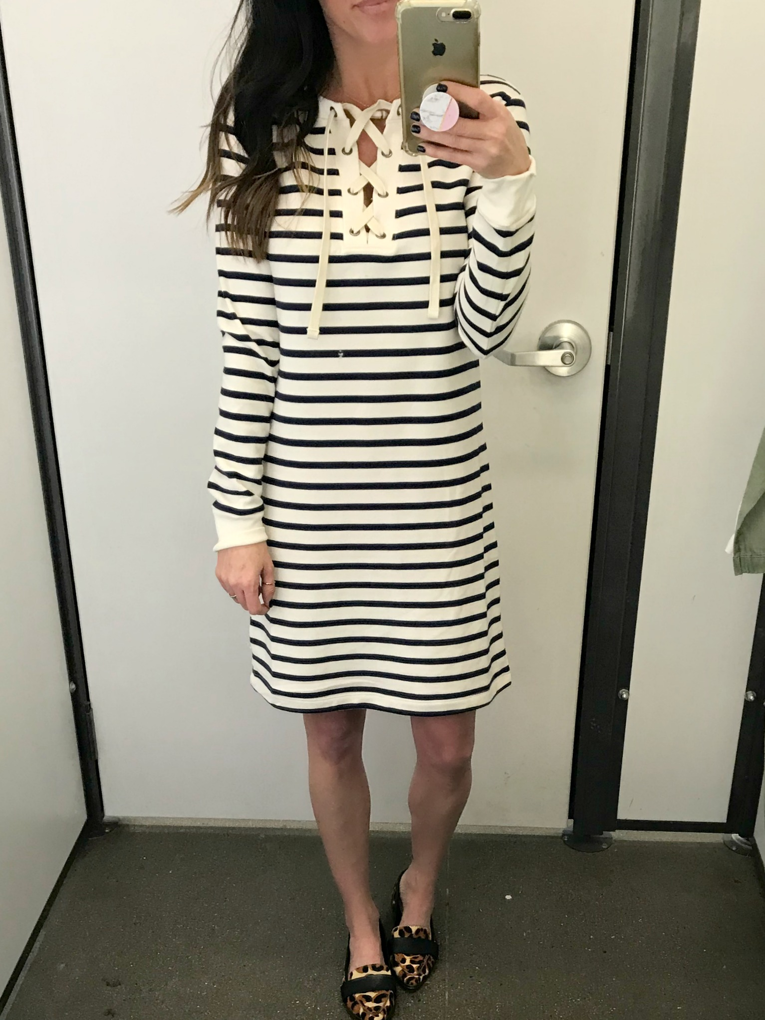 8feaae6db05f Lace-Up French-Terry Dress    This dress was SO SOFT and comfy! It  literally feels like cozy pajamas! I also think this could be great for  spring.