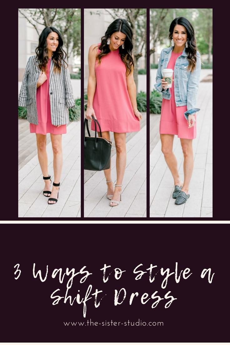 3 Ways to Style a Shift Dress