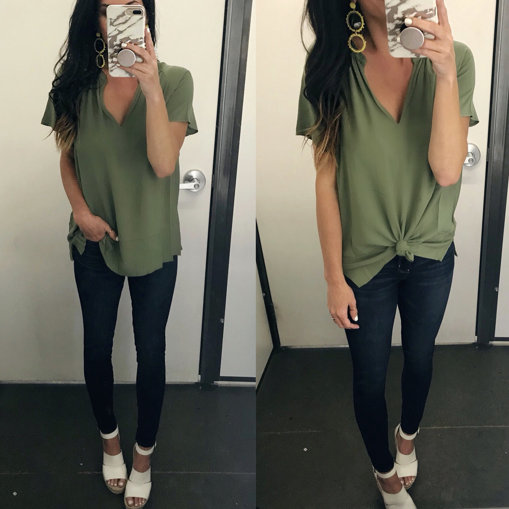 Top, Jeans, Wedges, casual style