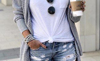 Casual Style, Cardigan, shorts