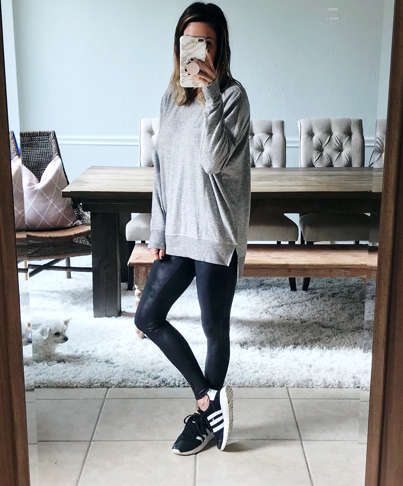 25e35b315ab15 Sweater (wearing xs) // Boots // Similar Boots // Leggings
