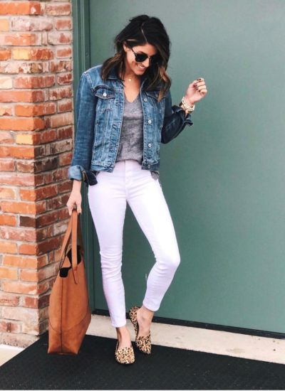 15 Ways to Style White Jeans